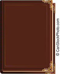 Brown closed book. Illustration in vector format