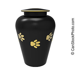 Cremation urn for pets - Black Cremation urn for pets, 3d...