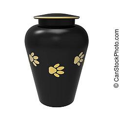 Cremation urn for pets - Black Cremation urn for pets, 3d...