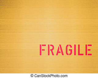 Retro look Fragile corrugated cardboard