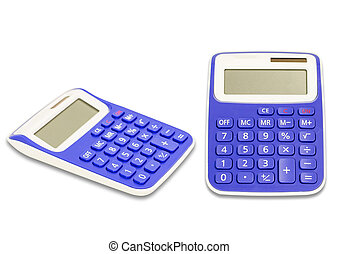 Calculator isolated on a white background