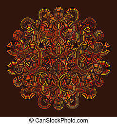 celtic knot pattern card, mandala, amulet - celtic knot...