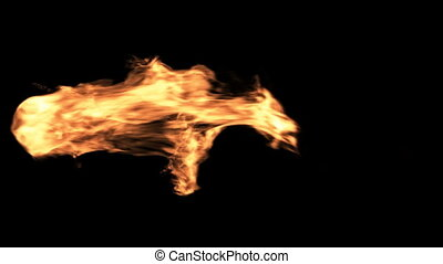 Fireball Element - Fire element isolated on black background...