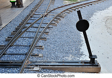 railway junction and switch