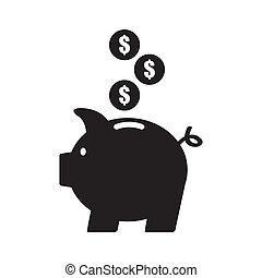 piggy design over white background vector illustration