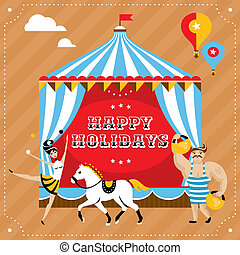 Greeting card vector illustration - Greeting card with...