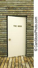 the boss's door