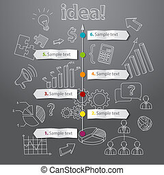 Timeline idea generation concept vector background