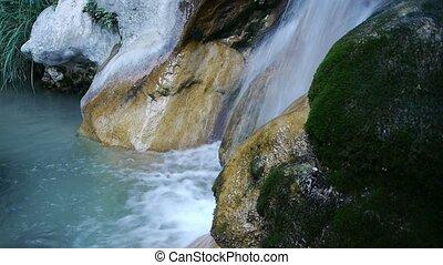 stream between rocks