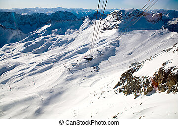 zugspitze - Zugspitze alpin ski area in the winter time....