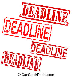 Deadline Rubber Stamps