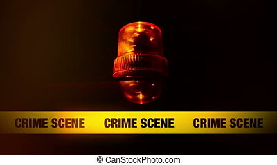 Crime Scene Yellow Headband Tape and Orange flashing and...