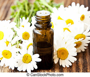 Chamomile Essence with Flowers - Chamomile Essential Oil...