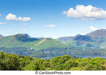 Derwent and Catbells mountains - View from Castlerigg Hall...