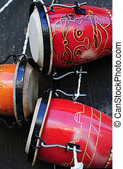 Cuban bongo - Detail of traditional afrocuban percussion...