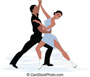 Couple ice dancing