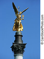 Peace - Angel of Peace - Friedensengel in Munich, Bavaria,...