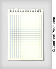 Checkered note paper sheet - Small note paper sheet, photo...
