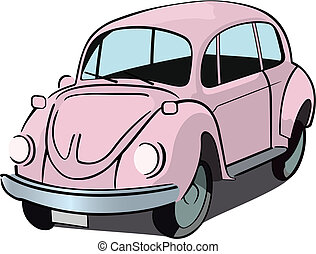 Beetle car - Pink beetle car