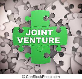 3d puzzle pieces - joint venture