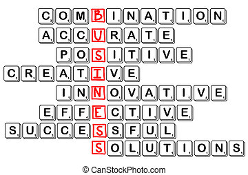 acronym concept of business -combinative,accura...