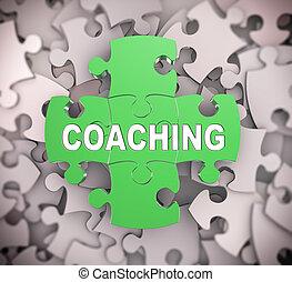 3d puzzle pieces - coaching
