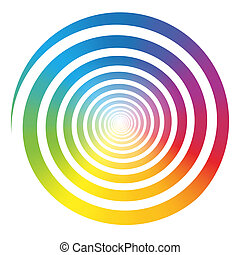 Rainbow Color Gradient Spiral White - Rainbow color gradient...