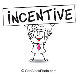 Incentive with Penelope - Penelope holds a placard on which...