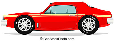 Muscle car - Vector illustration of funny muscle car.