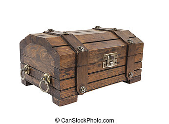 Vintage Toy Treasure Chest - Vintage toy treasure chest with...
