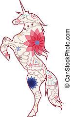 Unicorn vintage - vector illustration of unicorn vintage