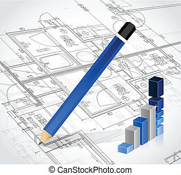 business blueprints illustration design