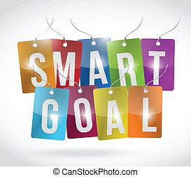 smart goal tags illustration design