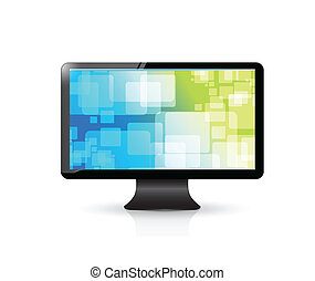 colorful screen saver on a tv. illustration design