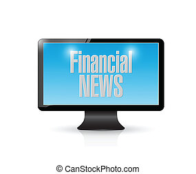 tv financial news illustration design