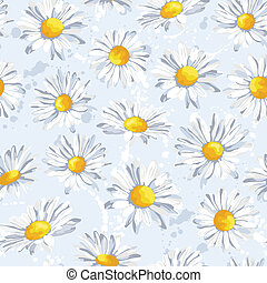 Vector seamless pattern with beautiful flowers in pastel colors.