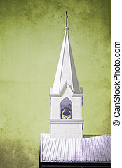 Top of an Anglican Church with vintage filter applied