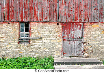 Old Rustic Barn Exterior Wall Background - The exterior wall...