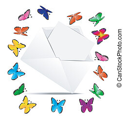 envelope with the sheet of paper