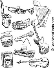 Instruments Set - This Instruments Vector Image was digital...