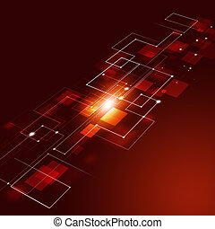 Abstract Technology Connections Red Background