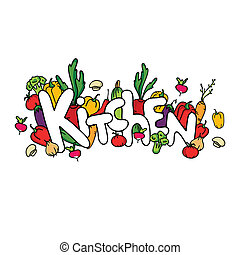 Vegetable composition. Kitchen. Illustration. Beautiful background.