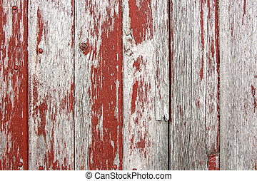 Red Rustic Barn Wood Background - A background of rustic,...