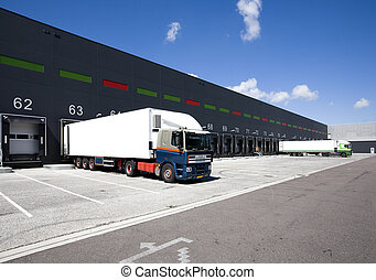 Loading docks - Loading bay for loading and unloading trucks...