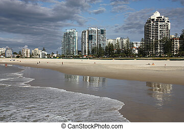 Gold Coast - Greenmount beach in Coolangatta. Gold Coast...
