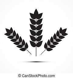 Vector Ears of Wheat Icon Illustration