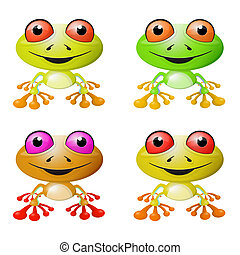 Red-eyed Tree Frog Vector Illustration