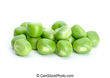 Small pile of peas isolated on the white background