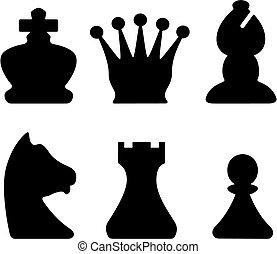 Piezas de ajedrez, símbolos