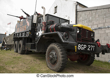 Red Baron Truck - DAVIDSTOW,CORNWALL,UK-July 27,2014:A...
